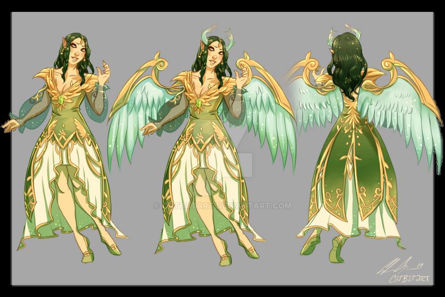 Character Sheet Commission: Nekopersona by CatBatArt