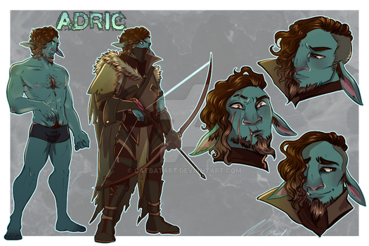 Character Sheet Commission: Firbolg for Ash