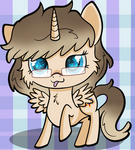 Ponysona chibi for elz-bellz95 by RainbowTashie