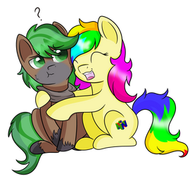 Skittles and mint chocolate by RainbowTashie