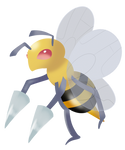 Beedrill lineless by RainbowTashie