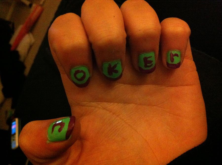 Joker nail art by GothicGabi on DeviantArt