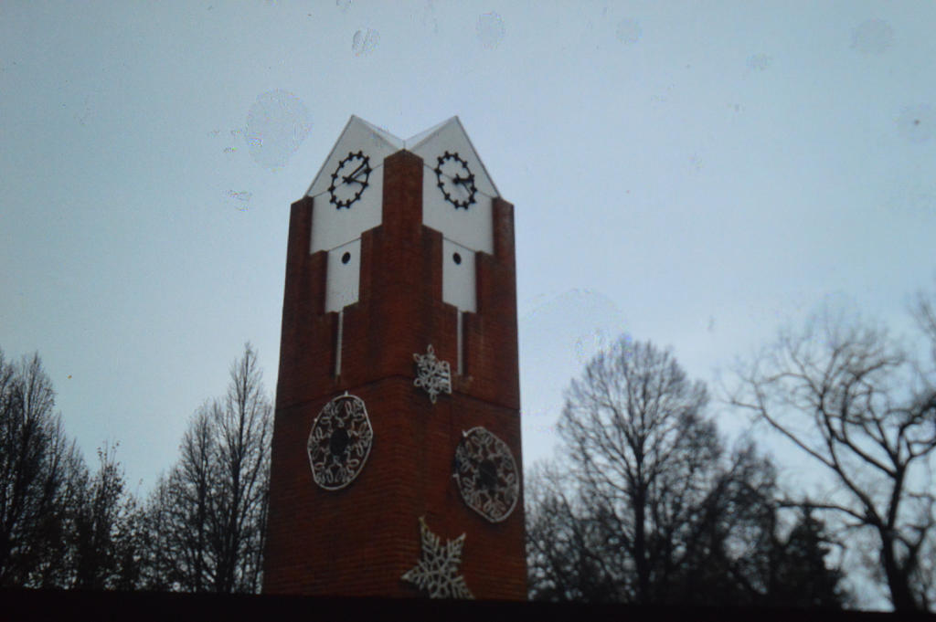 Winter City Clock tower by TimeAngel-113224400