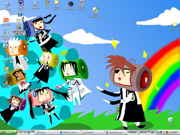 Our wallpaper, desu by OMG5