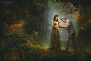 wild forest by Makusheva