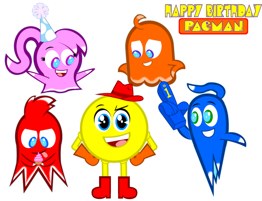 happy belated birthday pac man by gabe by senorspants on rh senorspants deviantart com happy belated birthday clip art free clipart belated happy birthday