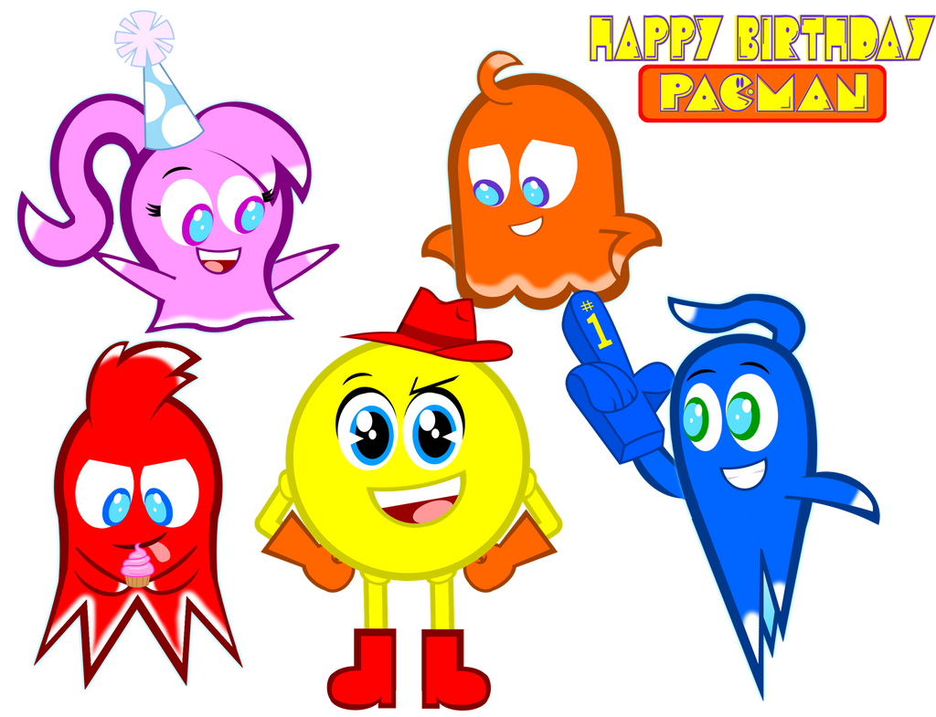 happy belated birthday pac man by gabe by senorspants on rh deviantart com happy belated birthday clipart belated birthday clip art free