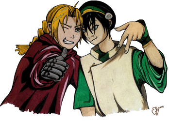 Ed and Toph by Igniparous