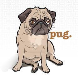 pug. by binarygodcom