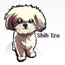 Shih Tzu by binarygodcom