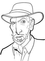 Frank Miller Rough Sketch by binarygodcom