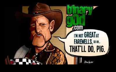 That'll Do Pig (Zombieland) by binarygodcom