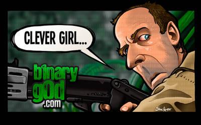 Clever Girl (Jurassic Park) by binarygodcom