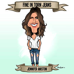 Fine in Torn Jeans (Jennifer Aniston) by binarygodcom