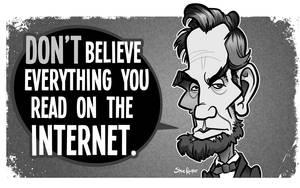 Abe's Internet Advice Abraham Lincoln Caricature by binarygodcom