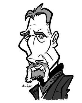 Ra's al Ghul Liam Neeson Caricature