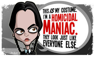 Wednesday Addams Christina Ricci Caricature by binarygodcom