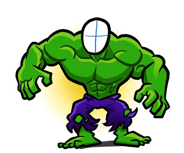 Hulk template by binarygodcom