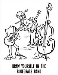 Coloring page - bluegrass band by binarygodcom