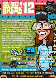 You Need a Break 12 - printed flyer (back) by binarygodcom
