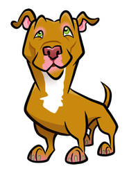 Red Pit Bull by binarygodcom