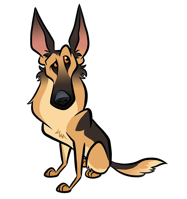 German Shepherd by binarygodcom