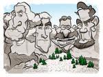 Rushmore Caricature by binarygodcom
