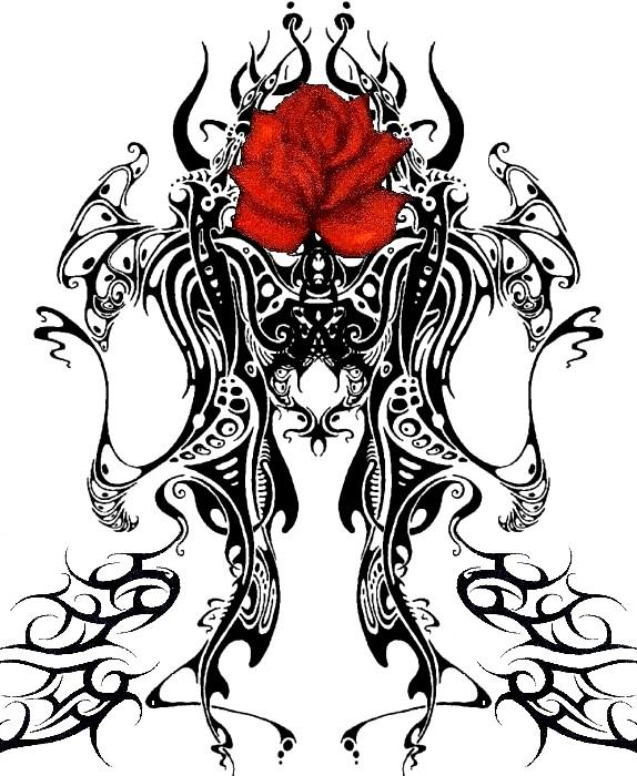 blood rose tribal by gothicknight213 on deviantart. Black Bedroom Furniture Sets. Home Design Ideas