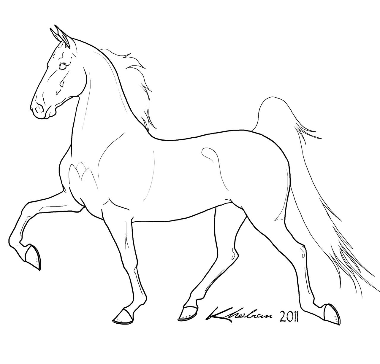 Horse line drawing - photo#14