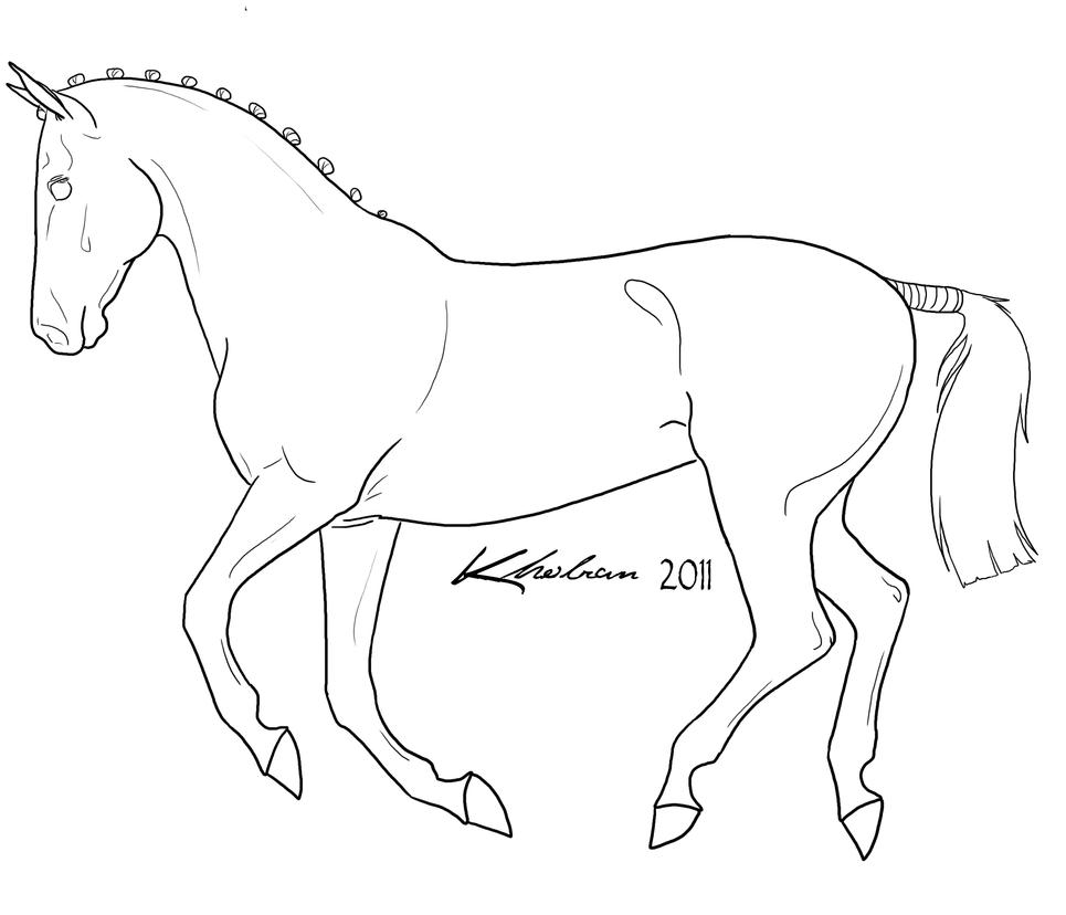 Canter lineart by kholran on deviantart for Thoroughbred coloring pages