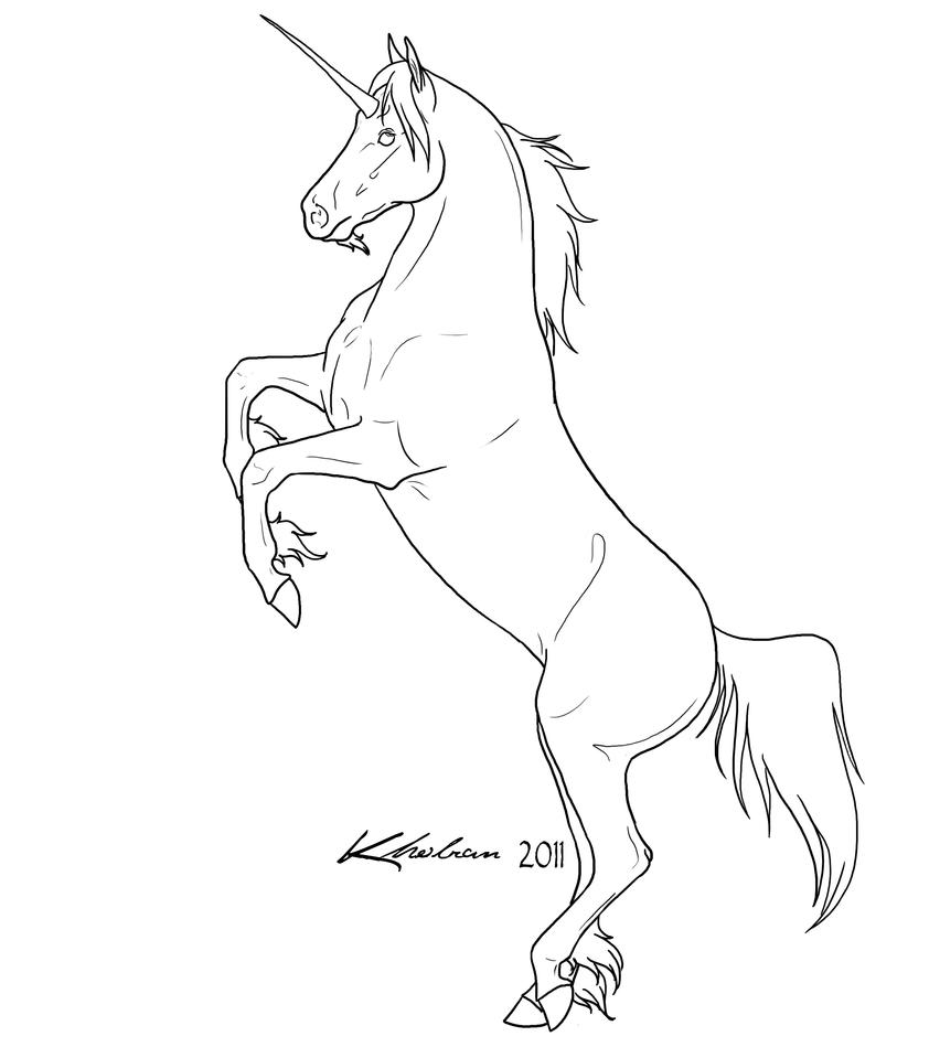 Line Drawing Unicorn : Unicorn lineart by kholran on deviantart