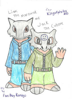 Liam the Marowak and Jack the Cubone