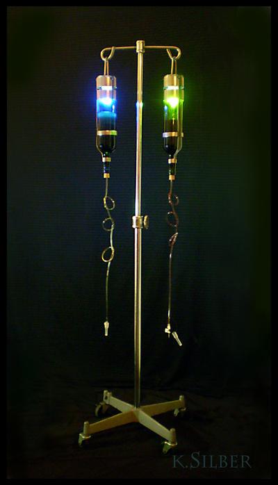 Wino I.V. +lamp by KyleCrocodile