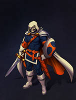 Taskmaster Knight Commission by CamiFortuna