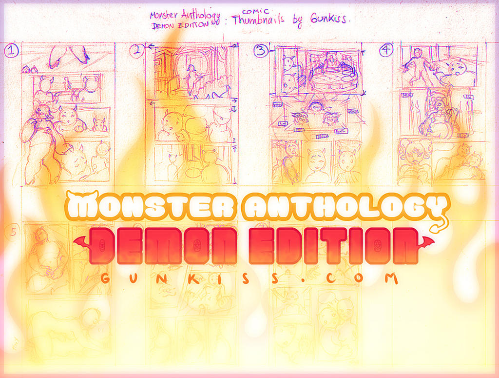 Monster Anthology: Demon Edition Comic Thumbs by CamiFortuna