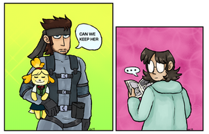 snake and isabelle (and otacon)