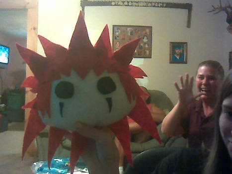 Axel plush pillow.. and my mom