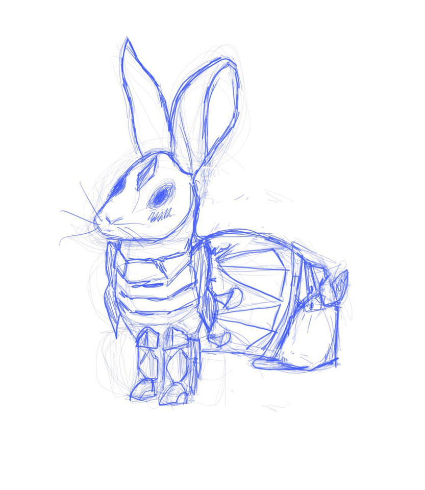 Bunny with armor by tuticapo1337
