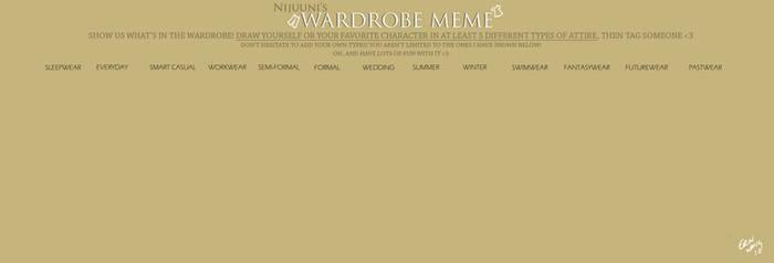 Nijuunis Wardrobe Meme BLANK
