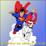 Wieringo Tribute...Superman and Krypto Coloured.