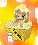 HOT Buttered Popcorn.
