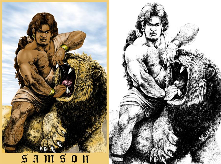 Samson And The Lion. by Highlander0423 - 217.2KB