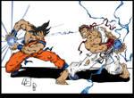 Ryu VS Goku Coloured.