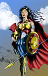 Wonder Woman in Armor by JasonMetcalf Coloured.