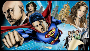 SUPERMAN RETURNS poster art by yelahttam Coloured.