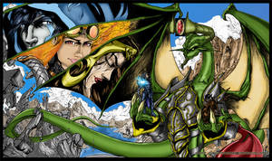 Nicol Bolas and Pals By: creatorpwned Coloured