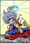 ssj5 broly vs superman by marvelmania