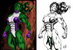 Imposing She Hulk By Uzomistudio
