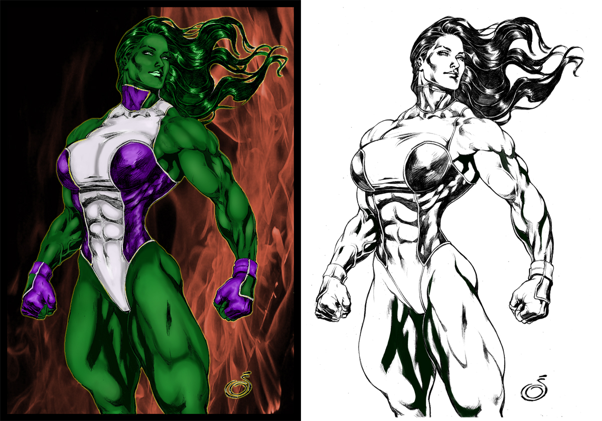 Imposing She Hulk By Uzomistudio by Highlander0423
