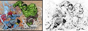 Thor Vs Hulk.